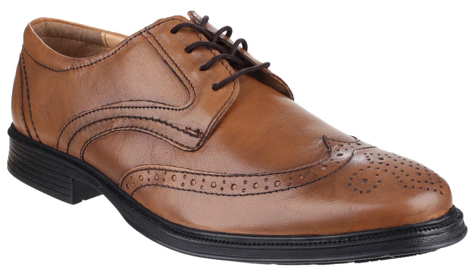 96ed68628ecd Cotswold Herren Luxembourg Schnürer Premium Leder Oxford Schuh braun ...